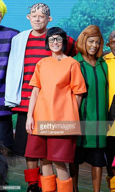 Carson Daly Natalie Morales and Tamron Hall attend NBC's 'Today' Spooktacular Costume Party at Rockefeller Plaza on October 30 2015 in New York City