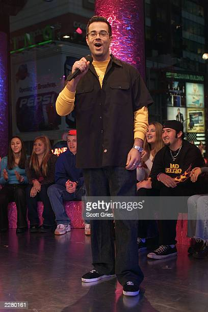 Carson Daly on set of MTV's TRL during 'Spankin' New Music Week' in New York 11/14/00 Photo Scott Gries/ImageDirect