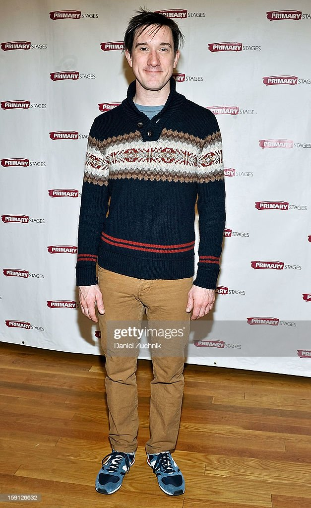 Carson Elrod attends the 'All In The Timing' press preview at Primary Stages Rehearsal Studio on January 8, 2013 in New York City.