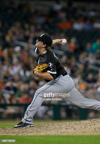 Carson Fulmer of the Chicago White Sox pitches against the Detroit Tigers at Comerica Park on August 2 2016 in Detroit Michigan