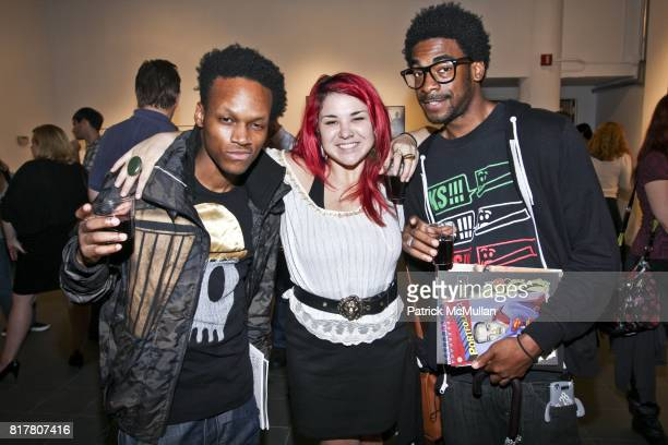 Carson Keriann Correia and Sincere Dennis attend OPTICAL NERVE 2010 Graduating Class Exhibition at School of Visual Arts on October 27 2010 in New...