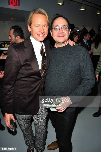 Carson Kressley and Dennis Wong attend JA Apparel Corp Debuts New JOSEPH ABBOUD Showroom at JA Apparel Corp Showroom 650 Fifth Avenue on January 19...