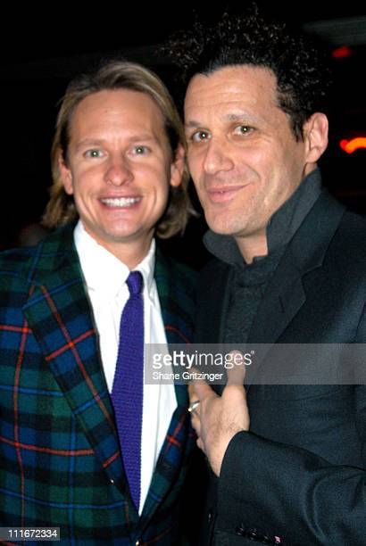 Carson Kressley and Isaac Mizrahi during 'Dinah The Christmas Whore' by David Sedaris A Benefit for 'Everybody Wins' Children's Literacy Fund at Lot...