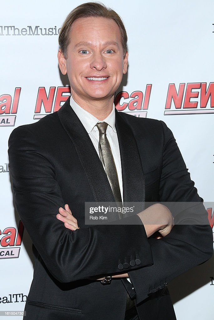 Carson Kressley attends his debut performance in Broadway's 'NEWsical The Musical' at The Kirk Theater at Theatre Row on February 11 2013 in New York...