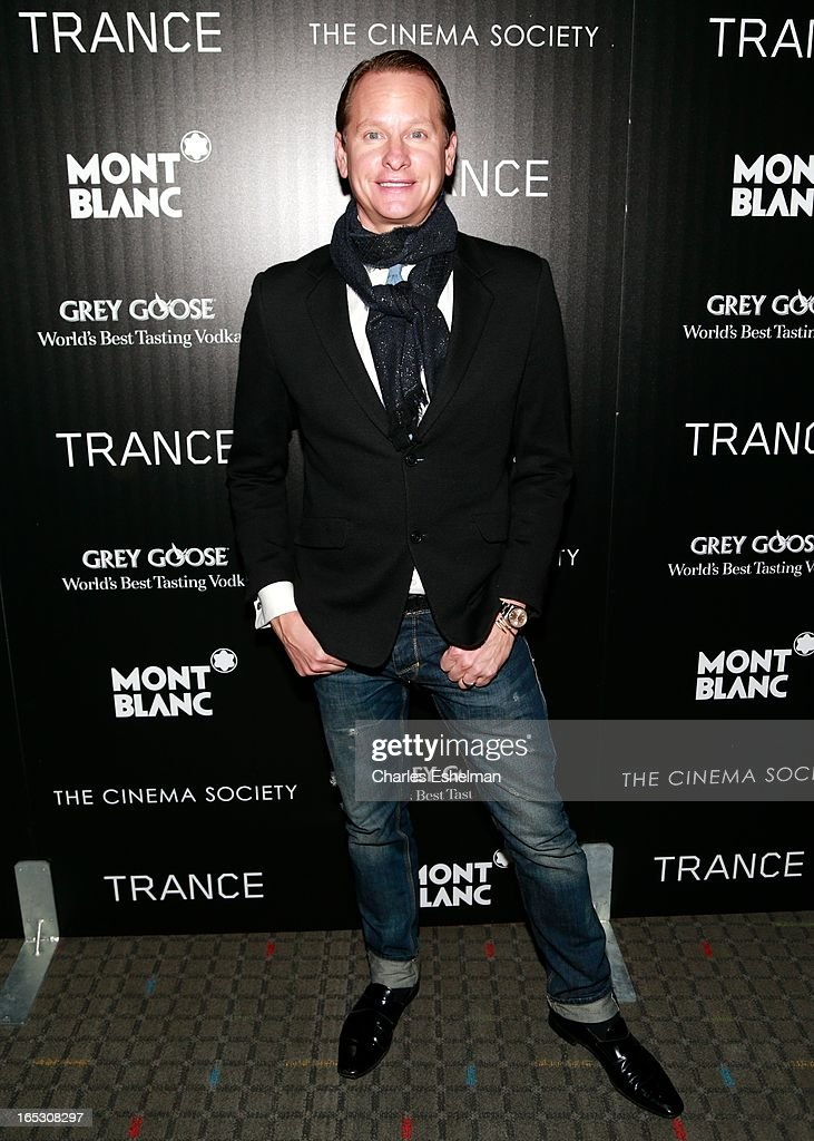 <a gi-track='captionPersonalityLinkClicked' href=/galleries/search?phrase=Carson+Kressley&family=editorial&specificpeople=202017 ng-click='$event.stopPropagation()'>Carson Kressley</a> attends The Cinema Society & Montblanc Host Fox Searchlight Pictures' 'Trance' at SVA Theatre on April 2, 2013 in New York City.