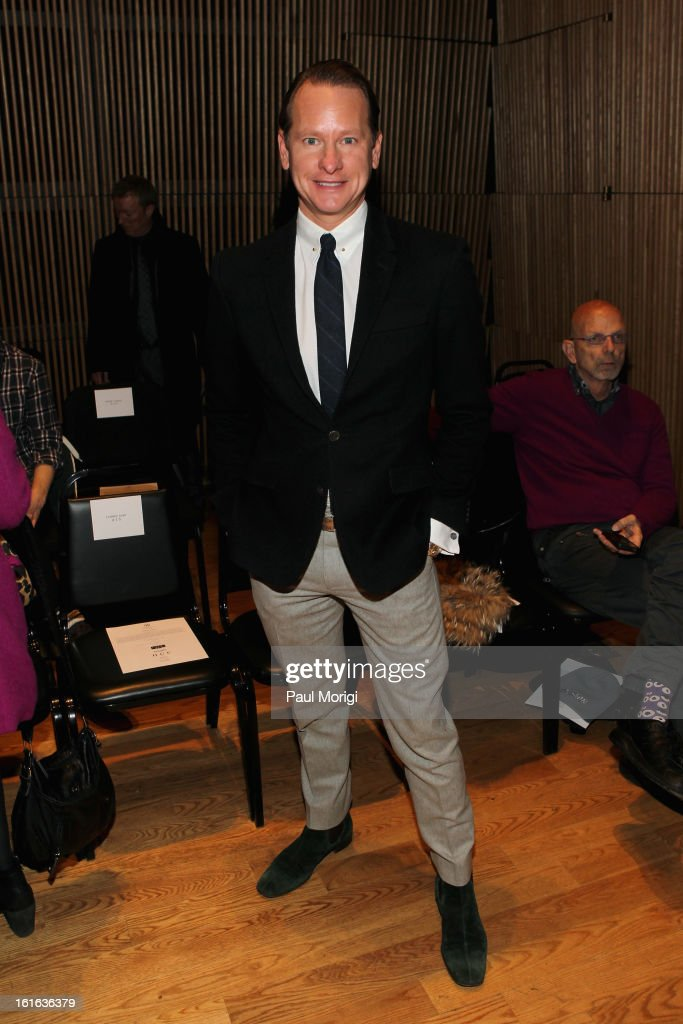 Carson Kressley attends the Douglas Hannant Fall 2013 Collection during Mercedes-Benz Fashion Week at Dimenna Center for Classical Music on February 13, 2013 in New York City.