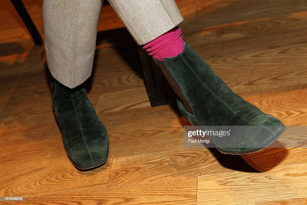 Carson Kressley (shoe detail) attends the Douglas Hannant Fall 2013 Collection during Mercedes-Benz Fashion Week at Dimenna Center for Classical Music on February 13, 2013 in New York City.