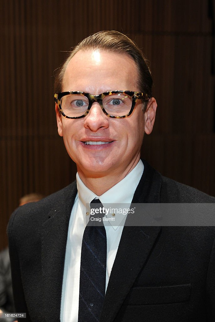 <a gi-track='captionPersonalityLinkClicked' href=/galleries/search?phrase=Carson+Kressley&family=editorial&specificpeople=202017 ng-click='$event.stopPropagation()'>Carson Kressley</a> attends the Douglas Hannant fall 2013 fashion show during Mercedes-Benz Fashion Week at the Dimenna Center for Classica Music on February 13, 2013 in New York City.