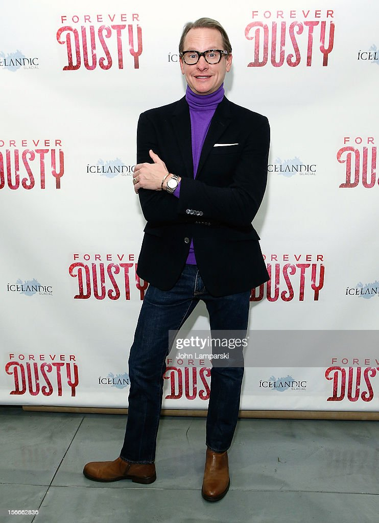 <a gi-track='captionPersonalityLinkClicked' href=/galleries/search?phrase=Carson+Kressley&family=editorial&specificpeople=202017 ng-click='$event.stopPropagation()'>Carson Kressley</a> attends the 'Forever Dusty' Opening Night at New World Stages on November 18, 2012 in New York City.
