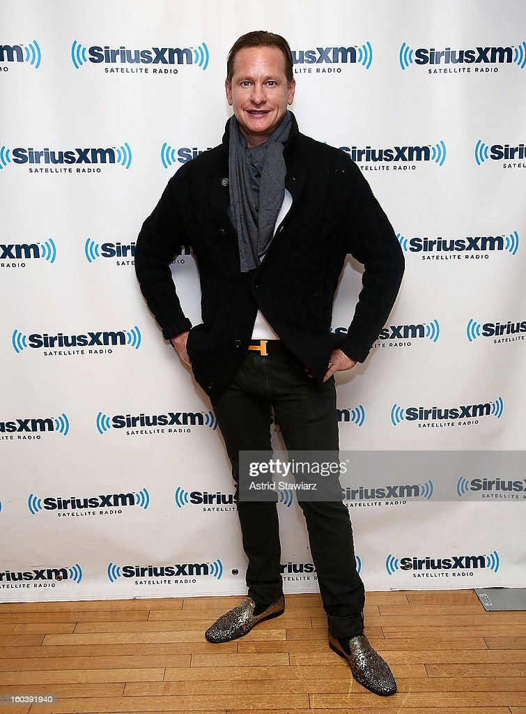 <a gi-track='captionPersonalityLinkClicked' href=/galleries/search?phrase=Carson+Kressley&family=editorial&specificpeople=202017 ng-click='$event.stopPropagation()'>Carson Kressley</a> visits the SiriusXM Studios on January 30, 2013 in New York City.