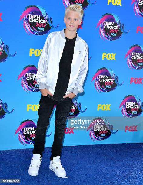 Carson Lueders arrives at the Teen Choice Awards 2017 at Galen Center on August 13 2017 in Los Angeles California