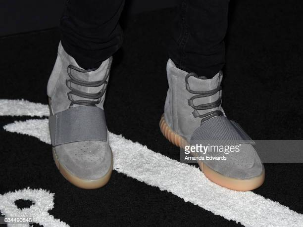 Carson Lueders shoe detail arrives at the 2017 Billboard Power 100 party at Cecconi's on February 9 2017 in West Hollywood California