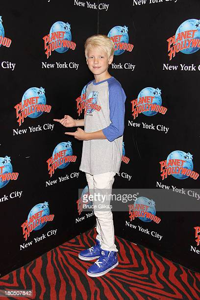 Carson Lueders Visits Planet Hollywood Times Square on September 13 2013 in New York City