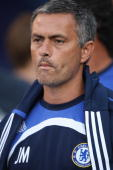 Chelsea FC head coach Jose Mourinho before the start of his team's football match against Suwon Samsung Bluewing at the World Series of Soccer 17...