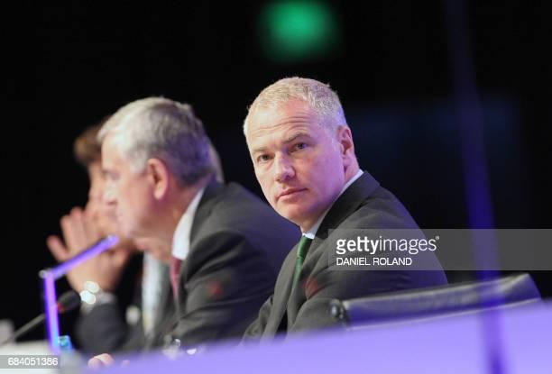 Carsten Kengeter CEO of German stocks operator Deutsche Boerse attends the company's annual general meeting in Frankfurt am Main western Germany on...
