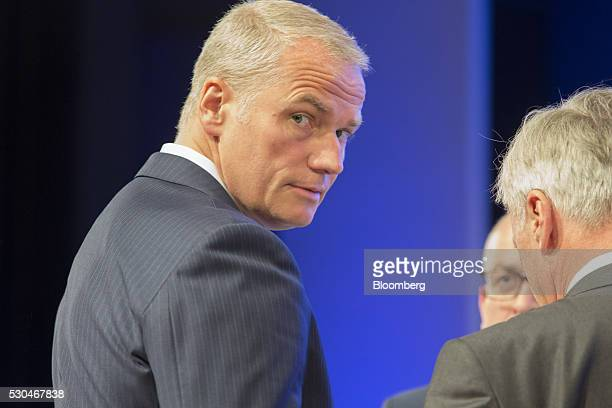 Carsten Kengeter chief executive officer of Deutsche Boerse AG looks on during the German stock exchange's annual general meeting in Frankfurt...