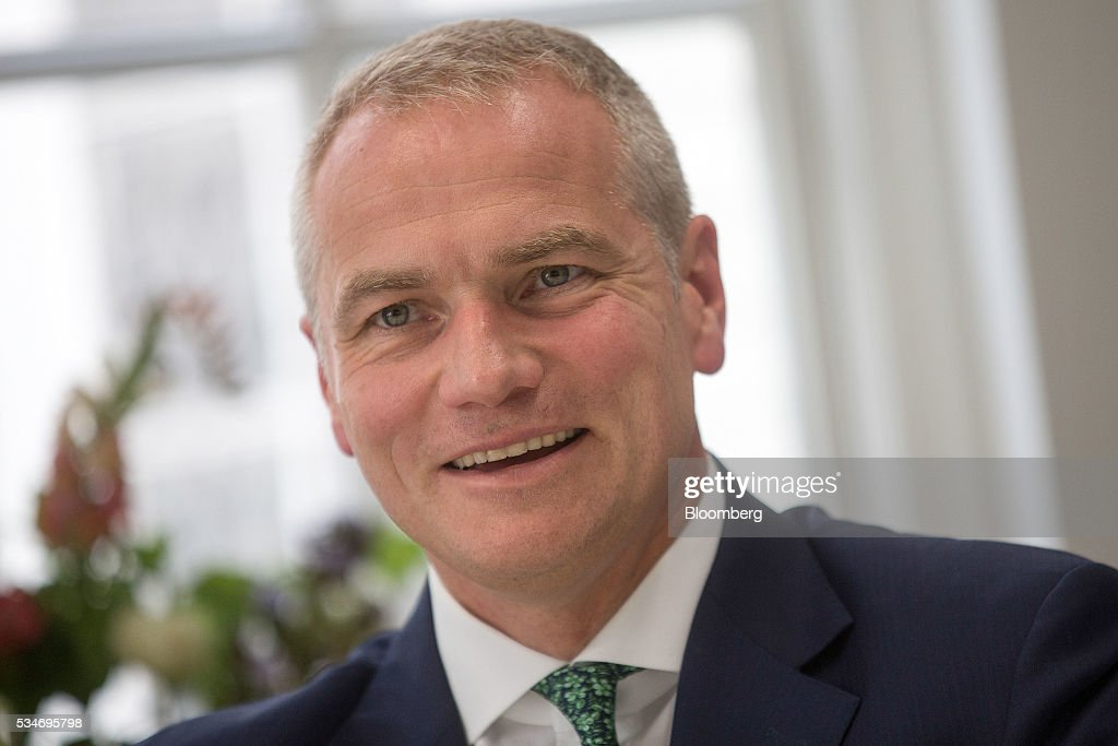 Carsten Kengeter, chief executive officer of Deutsche Boerse AG, reacts during an interview in London, U.K., on Friday, May 27, 2016. In its review of the merger between Deutsche Boerse AG and London Stock Exchange Group Plc, the regulator of the Frankfurt bourse will pay close attention to the U.K.s referendum on European Union membership and the location of the future headquarters of the combined company, the economy minister of the German state of Hesse said. Photographer: Simon Dawson/Bloomberg via Getty Images
