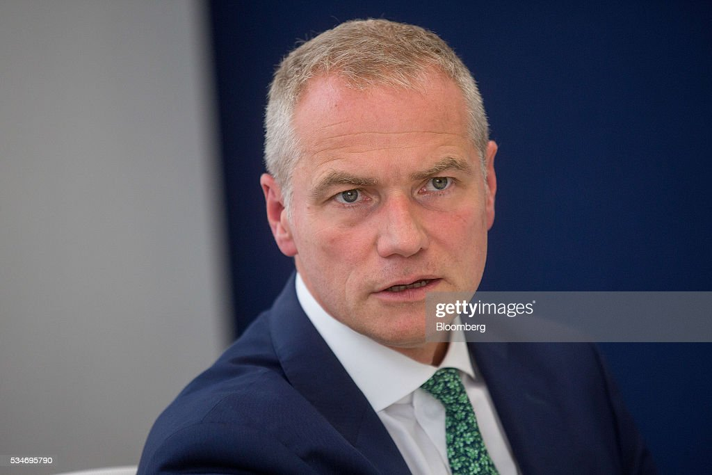 Carsten Kengeter, chief executive officer of Deutsche Boerse AG, speaks during an interview in London, U.K., on Friday, May 27, 2016. In its review of the merger between Deutsche Boerse AG and London Stock Exchange Group Plc, the regulator of the Frankfurt bourse will pay close attention to the U.K.s referendum on European Union membership and the location of the future headquarters of the combined company, the economy minister of the German state of Hesse said. Photographer: Simon Dawson/Bloomberg via Getty Images