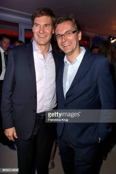 Carsten Maschmeyer and Claus Strunz attend the 'Bertelsmann Summer Party' at Bertelsmann Repraesentanz on June 22 2017 in Berlin Germany