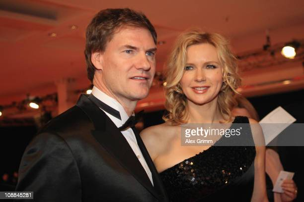 Carsten Maschmeyer and Veronica Ferres arrive at the 20011 Sports Gala 'Ball des Sports' at the RheinMain Hall on February 5 2011 in Wiesbaden Germany