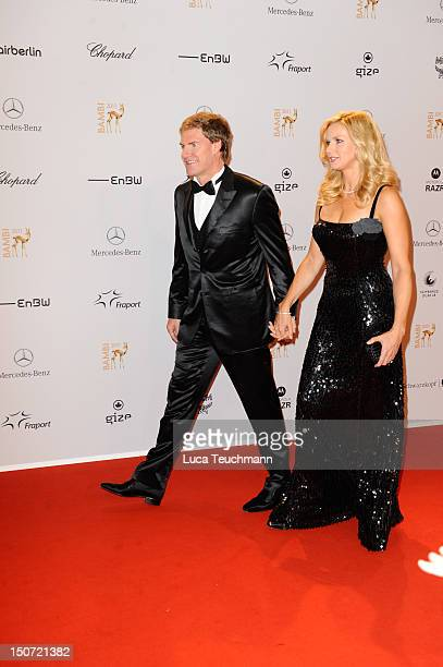 Carsten Maschmeyer and Veronica Ferres attend the Red Carpet for the Bambi Award 2011 ceremony at the RheinMainHallen on November 10 2011 in...