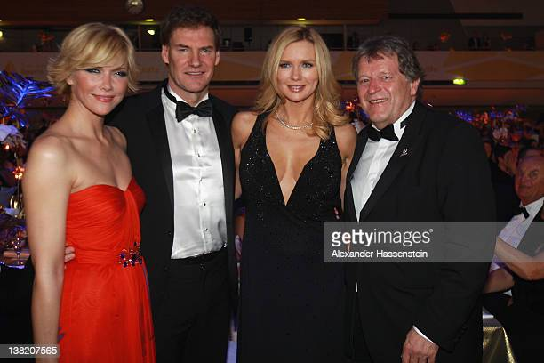 Carsten Maschmeyer attends with Veronica Ferres Anne Wis and nOrbert Haug the 2012 Sports Gala 'Ball des Sports' at the RheinMain Hall on February 4...