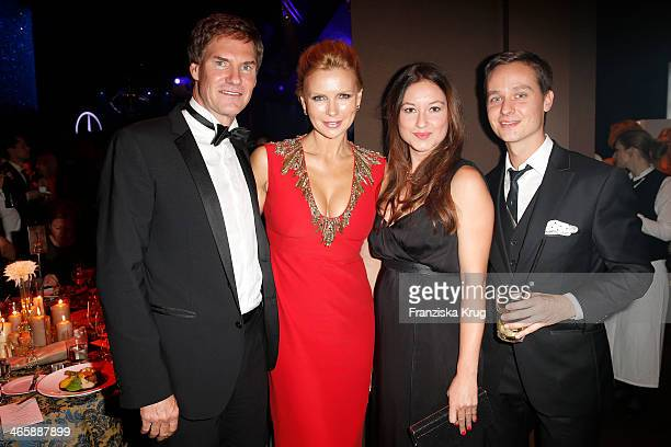 BERLIN GERMANY NOVEMBER Carsten Maschmeyer Veronica Ferres Annie Mosebach and Tom Schilling attend the Bambi Awards 2013 at Stage Theater on November...
