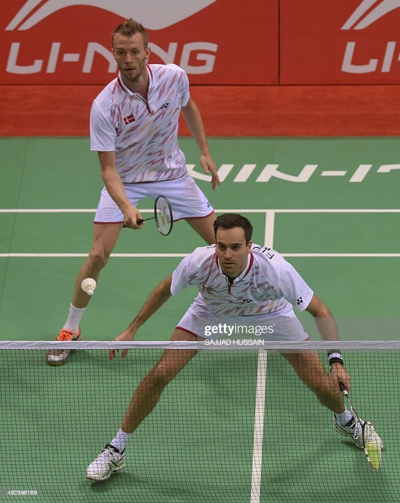 Carsten Mogensen R and Joachim Fischer Nielsen of Denmark play a