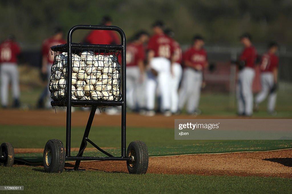Cart of Baseballs