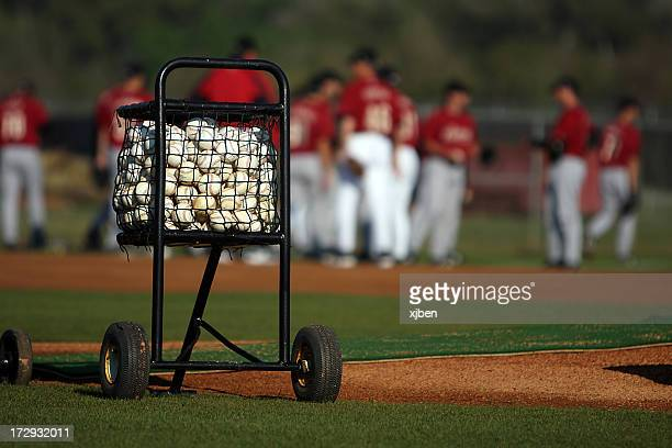 Cart of Baseballs
