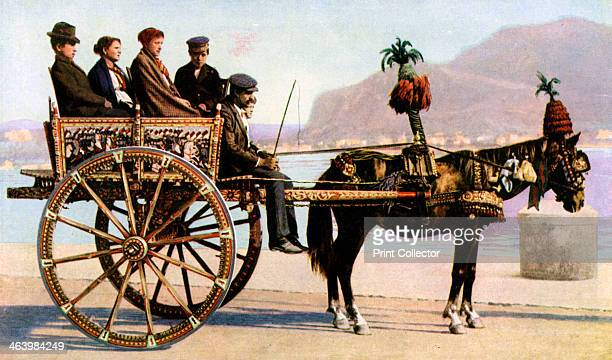 Cart Palermo Sicily c1923 A print from Countries of the World Volume VI edited by JA Hammerton The Fleetway House London c1923