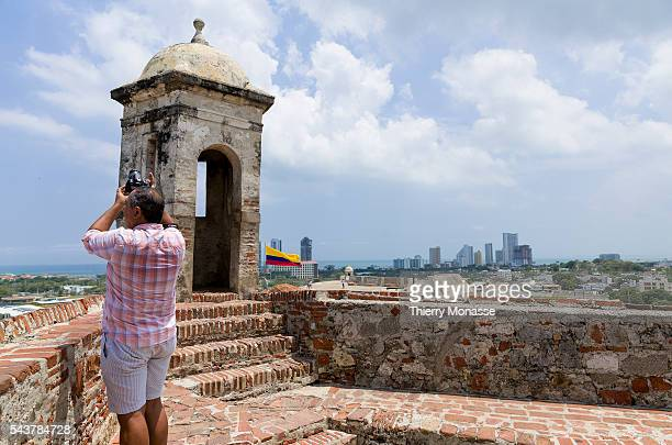 Cartagena de Indias Republic of Colombia August 22 2015 The San Felipe Barajas Castle