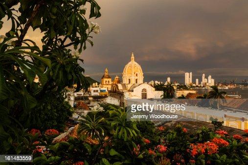 Cartagena skyline : Stock Photo