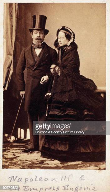 Carte de visite photograph by Disderi Cie of Paris Napoleon III assumed the title of Emperor of France in 1852 and the following year married the...