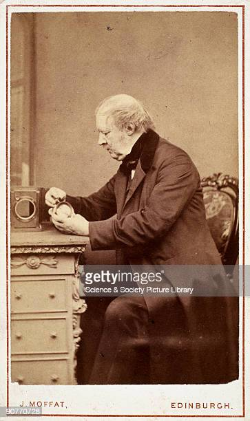 Carte De Visite Photograph By J Moffat Of Edinburgh Talbot Was A Mathematician Physicist Philologist And