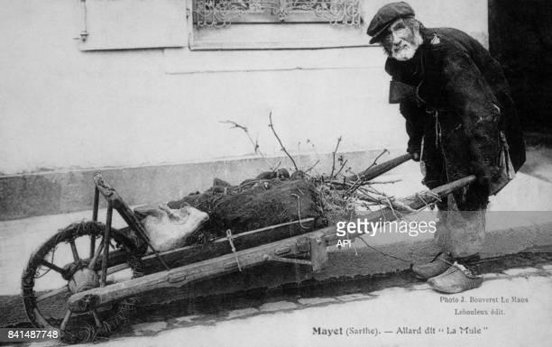 Carte postale illustrée par la photographie d'Allard dit 'la Mule' à Mayet dans la Sarthe en France