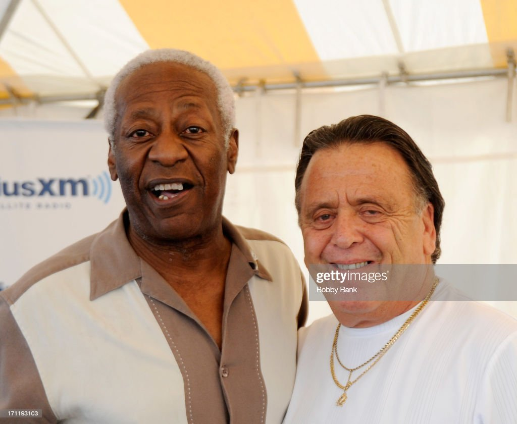 J.T. Carter and Barry Newman (R) of the Crests attends the Cousin Brucie's First Annual Palisades Park Reunion Presented By SiriusXM at State Fair Meadowlands on June 22, 2013 in East Rutherford, New Jersey.