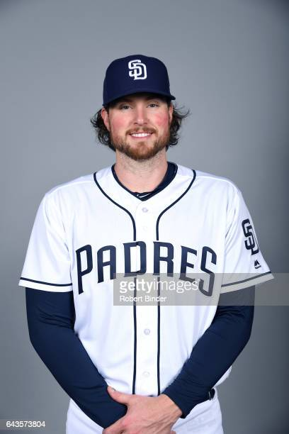 Carter Capps of the San Diego Padres poses during Photo Day on Sunday February 19 2017 at Peoria Stadium in Peoria Arizona