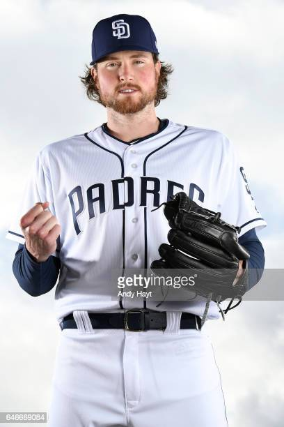 Carter Capps of the San Diego Padres poses for a portrait on photo day at the Peoria Sports Complex on February 19 2017 in Peoria Arizona
