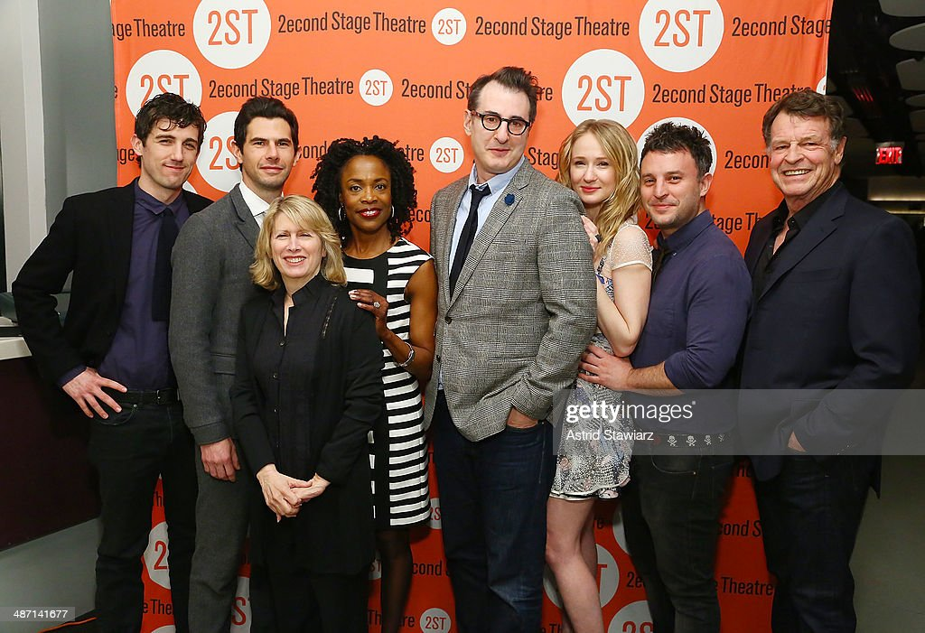Carter Hudson, Daniel Eric Gold, Carole Rothman, Charlayne Woodard, Jon Robin Baitz, Halley Feiffer, Trip Cullman and John Noble attend the after party for 'The Substance Of Fire' opening night at Four at Yotel on April 27, 2014 in New York City.