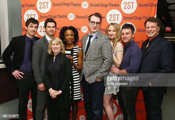 Carter Hudson Daniel Eric Gold Carole Rothman Charlayne Woodard Jon Robin Baitz Halley Feiffer Trip Cullman and John Noble attend the after party for...