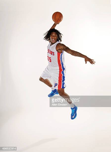 Cartier Martin of the Detroit Pistons poses for a portrait during Detroit Pistons Media Day on September 29 2014 at The Palace of Auburn Hills in...