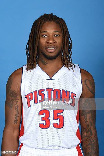 Cartier Martin of the Detroit Pistons poses for a portrait during media day on September 28 2015 at The Palace of Auburn Hills in Auburn Hills...
