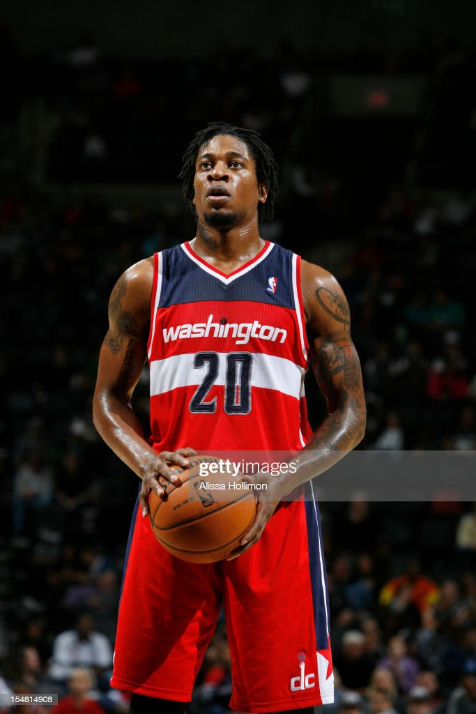 <a gi-track='captionPersonalityLinkClicked' href=/galleries/search?phrase=Cartier+Martin&family=editorial&specificpeople=834581 ng-click='$event.stopPropagation()'>Cartier Martin</a> #20 of the Washington Wizards attempts a foul shot vs San Antonio Spurs on October 26, 2012 at the AT&T Center in San Antonio, Texas.