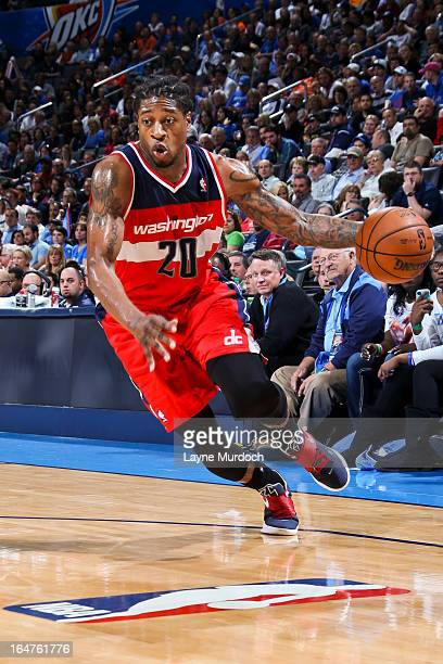 Cartier Martin of the Washington Wizards controls the ball against the Oklahoma City Thunder on March 27 2013 at the Chesapeake Energy Arena in...