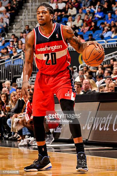 Cartier Martin of the Washington Wizards controls the ball against the Orlando Magic on December 19 2012 at Amway Center in Orlando Florida NOTE TO...
