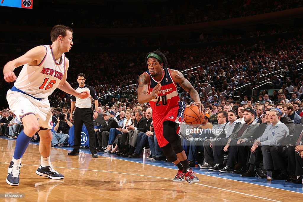 <a gi-track='captionPersonalityLinkClicked' href=/galleries/search?phrase=Cartier+Martin&family=editorial&specificpeople=834581 ng-click='$event.stopPropagation()'>Cartier Martin</a> #20 of the Washington Wizards drives against <a gi-track='captionPersonalityLinkClicked' href=/galleries/search?phrase=Steve+Novak&family=editorial&specificpeople=693015 ng-click='$event.stopPropagation()'>Steve Novak</a> #16 of the New York Knicks on April 9, 2013 at Madison Square Garden in New York City.