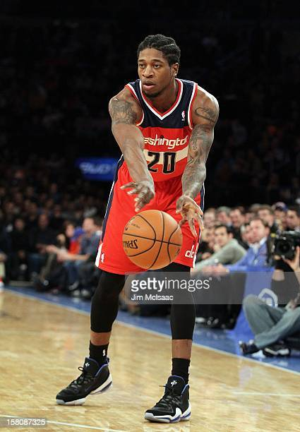 Cartier Martin of the Washington Wizards in action against the New York Knicks at Madison Square Garden on November 30 2012 in New York City The...