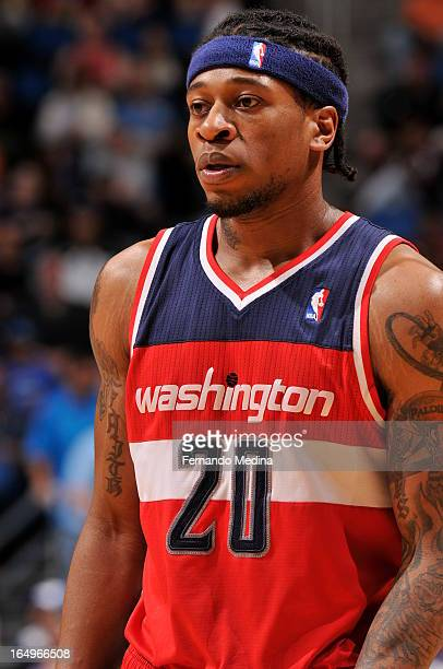 Cartier Martin of the Washington Wizards looks into the stands against the Orlando Magic during the game on March 29 2013 at Amway Center in Orlando...