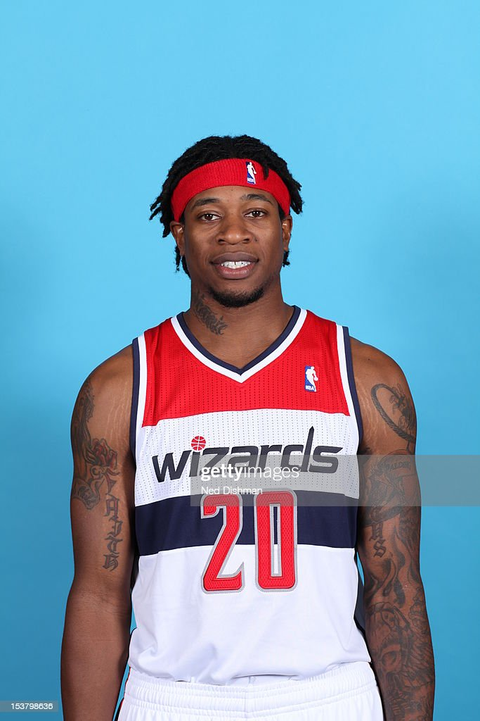 <a gi-track='captionPersonalityLinkClicked' href=/galleries/search?phrase=Cartier+Martin&family=editorial&specificpeople=834581 ng-click='$event.stopPropagation()'>Cartier Martin</a> #20 of the Washington Wizards poses for a portrait during 2012 NBA Media Day at the Verizon Center on October 1, 2012 in Washington, DC.